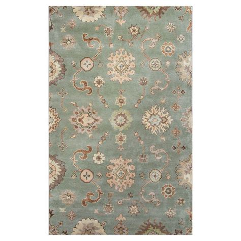 8 Ft Area Rugs by Kas Rugs Cascades Green Ivory 5 Ft X 8 Ft Area Rug