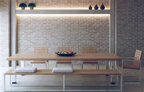 exposed brick wall lighting love the brick wall with light wood dining table for