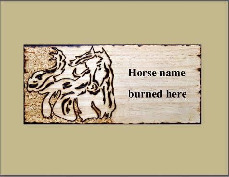 Handmade Name Plaques - made stall plaques name plaque stall