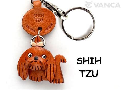 Shih Tzu Keychain shih tzu leather keychain