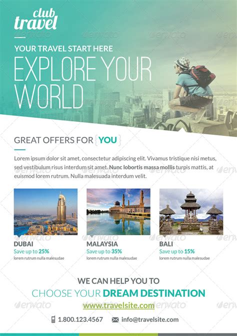 vacation flyer template travel vacation flyer template by webduck graphicriver