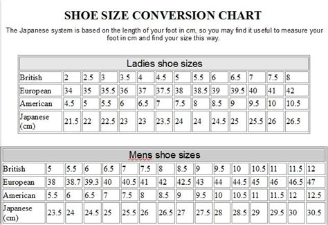 shoes size chart uk uk size shoes conversion