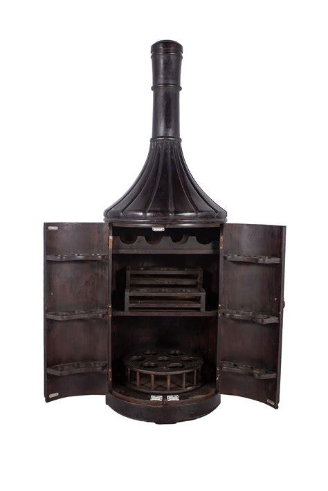 Wine Bottle Shaped Wine Rack by Teak Wood 6ft Bottle Shaped Wine Rack Cabinet Chairish