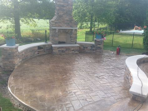 patio concrete decorative sted concrete patio sitting walls and