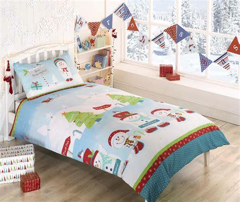 kids christmas bedding kids christmas bedding duvet cover bright colourful festive xmas santa reindeer ebay