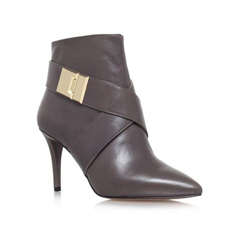 high heel grey boots nine west palencia high heel ankle boots in gray grey lyst