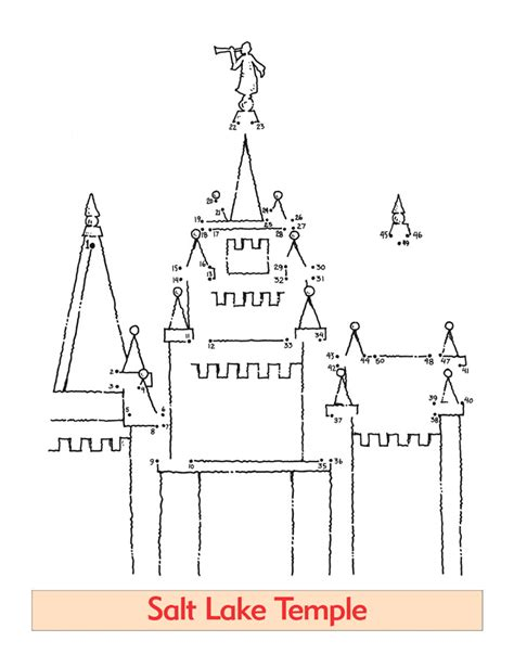 Lds Coloring Pages Search Results Salt Lake Temple Coloring Page