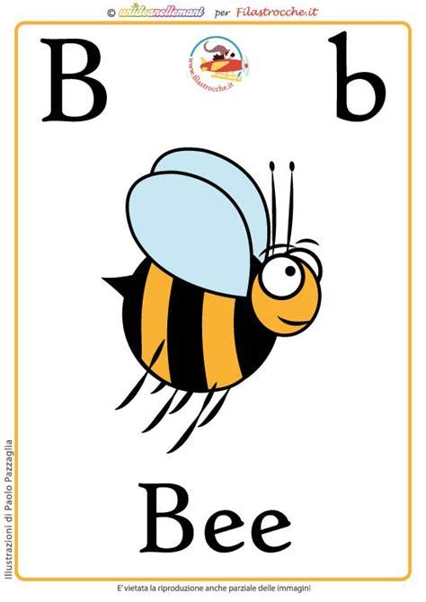 schede lettere alfabeto schede alfabeto inglese da stare lettera b