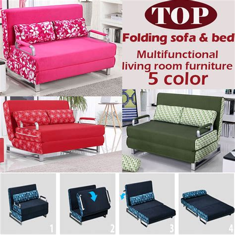 folding steel sofa set 100 cotton sofa bed high resilience foam sponge sofa