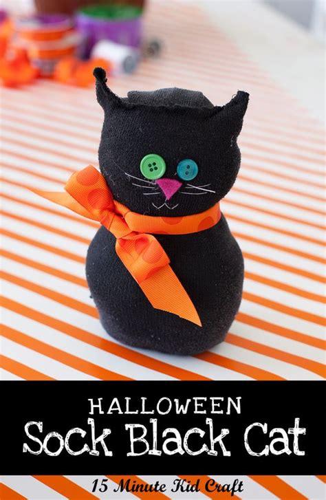 3d Ribbon Socks 15 minute craft black sock cat tutorials