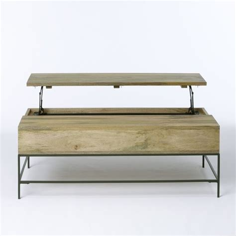 rustic storage coffee table contemporary coffee tables - West Elm Coffee Table Storage