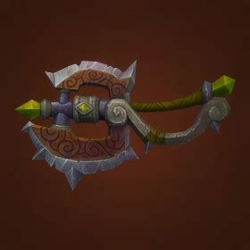 barbarian icey veins transmogrification paladin one hand axe weapon item model