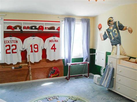 sports murals for bedrooms sports theme mural zach yankee bedroom pinterest