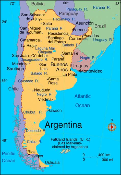south america map argentina bridge in argentina