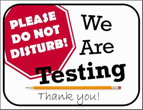 sign template for testing testing sign school counselor ideas