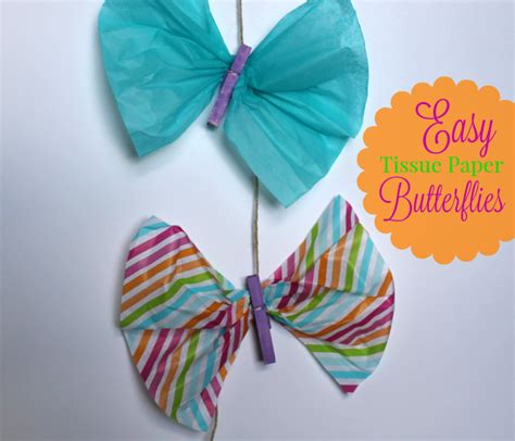 How To Make Tissue Paper Butterflies - easy tissue paper butterflies outnumbered 3 to 1