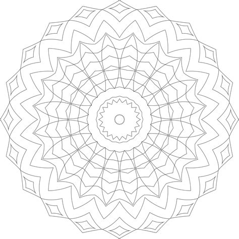 mandala pattern png coloring pages coloring and geometric designs on pinterest