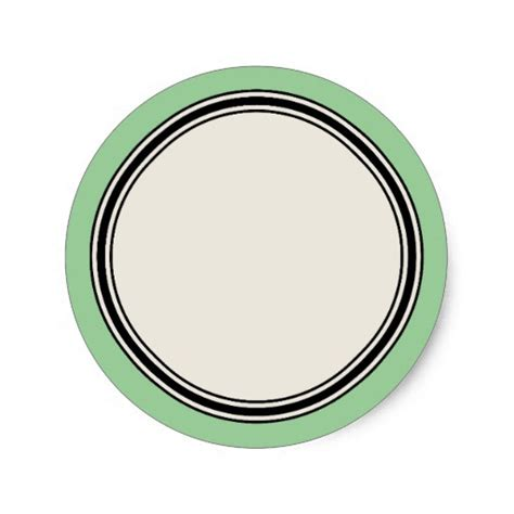 vintage circle label template jadeite sticker zazzle