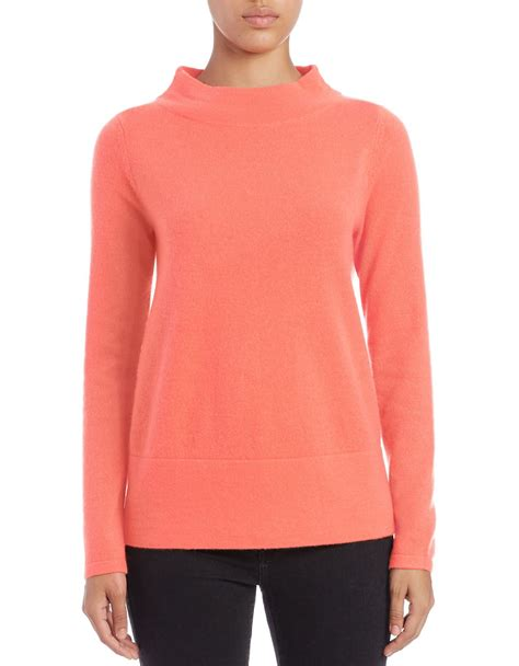 orange boat neck sweater lord taylor boat neck cashmere sweater in orange