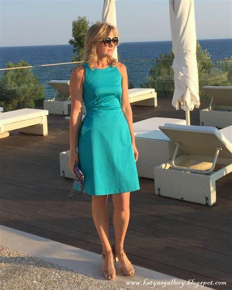 Kazakova Blue my blue turquoise open back summer dress sewing projects burdastyle