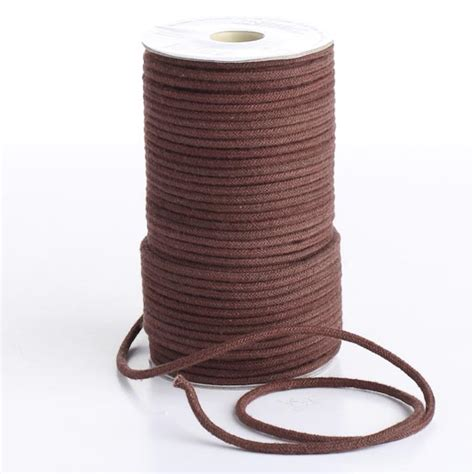Macrame Supplies - brown polyester macrame cord wire rope string