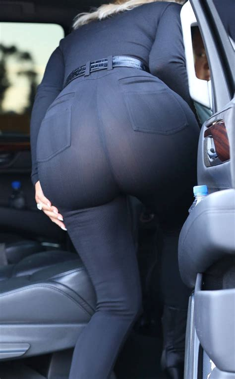 Oops Kim Kardashian Accidentally Flashes Her Underwear In Tight See Through Pants See The Pic
