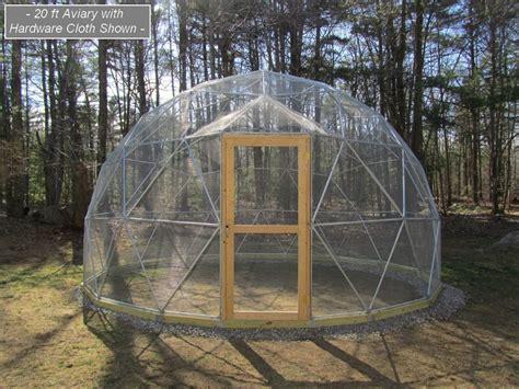 backyard dome start to grow geometric aviary