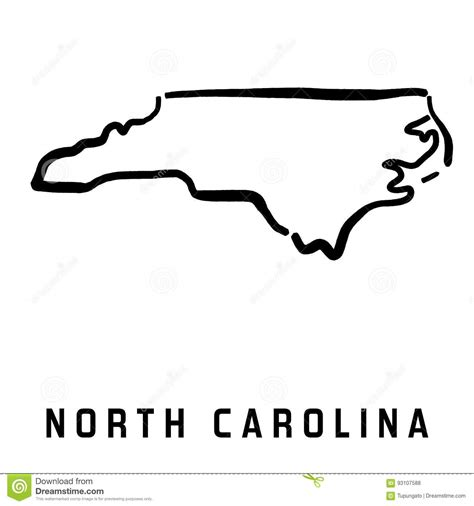 How To Draw The Outline Of Carolina by Carolina Stock Vector Image Of Carolina Geography 93107588
