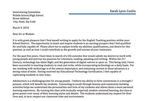 2. Cover Letter   Sarah Lynn Conlin
