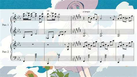 theme music for q pok 233 mon sun moon lillie s theme two pianos sheet