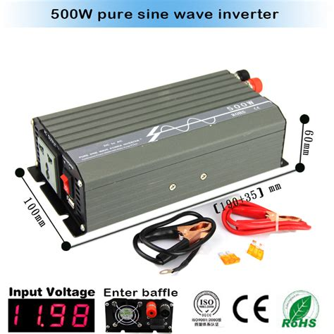 Inverter 1300w 12vdc To 220 230 Vac Step Up Plus Usb 1 sine wave inverter 500w 1000w peak 12vdc 24vdc 110vac 100vac 220vac 230vac usb ce rohs