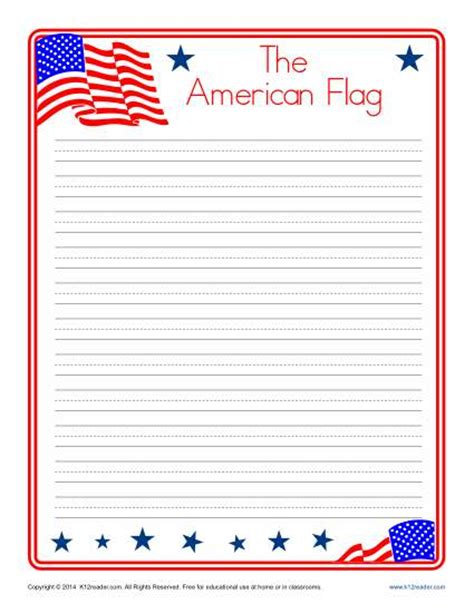 printable american flag a4 a4 lined paper templates print and download 15