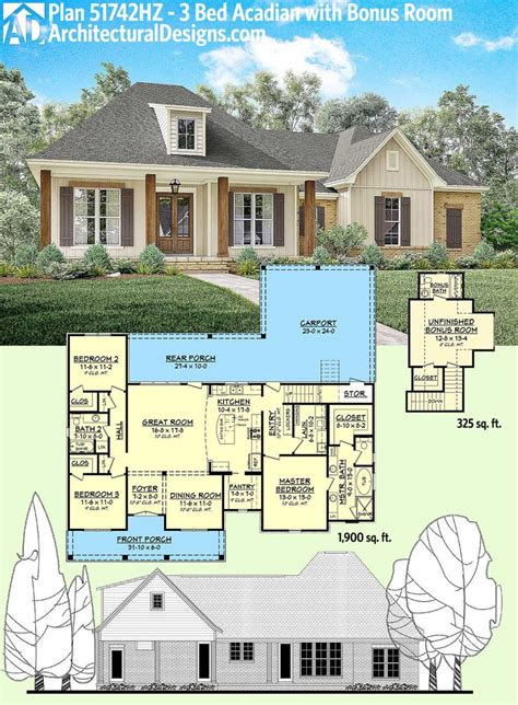 Houses Design Plans 155 Best Acadian Style House Plans Images On