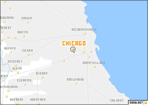 map usa chicago chicago map us