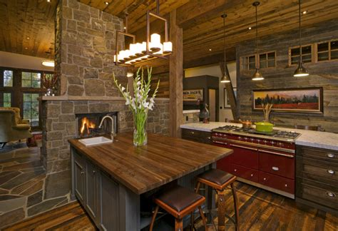 mountain contemporary rustic kitchen denver