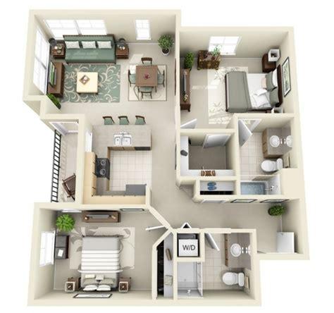 plan appartement 2 chambres 50 plans en 3d d appartements et maisons page 4 sur 6