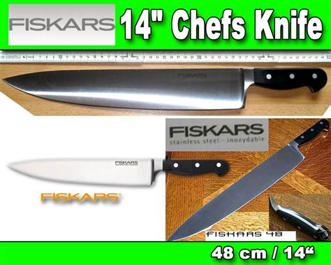 fiskars kitchen knives fiskars knife 14 quot chefs knife ebay
