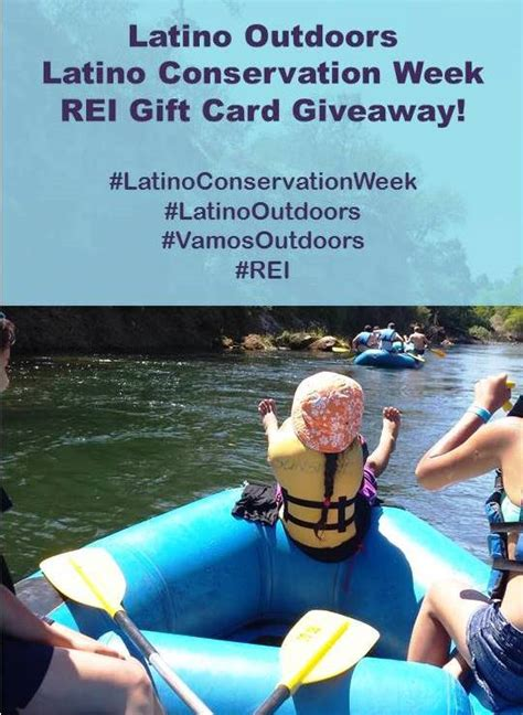 Rei Gift Card Online - latino outdoors latino conservation week rei giveaway latino outdoors