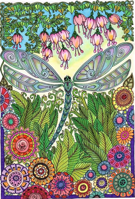 libro creative haven entangled dragonflies 17 best images about cool colored page on coloring coloring books and mandalas