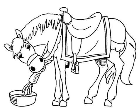 imagenes infantiles para pintar dibujos de caballos para colorear e imprimir gratis