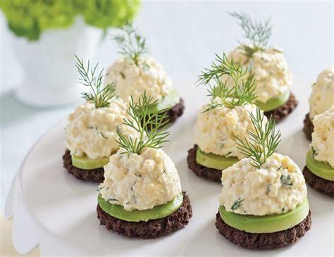 fresh canapes avocado egg salad canap 233 s teatime magazine