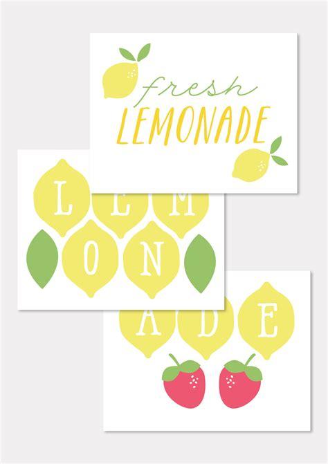 printable lemonade banner free printables to make your lemonade stand extra sweet