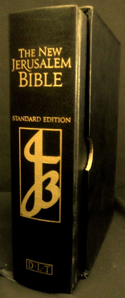 the new jerusalem books njb standard edition black leather bible