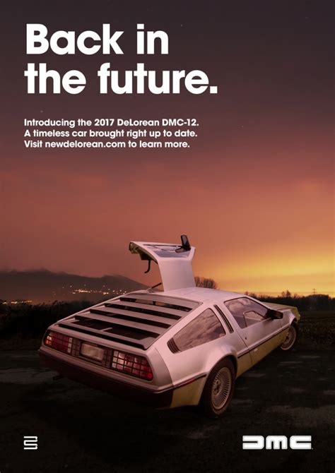 car ads 2017 image gallery delorean ad