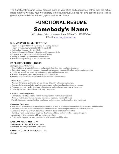 chronological resume sles pdf non chronological resume resume ideas
