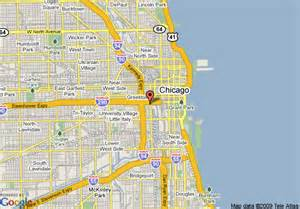 Map Of Chicago Hotels by Chicago Street Map Map Of The World