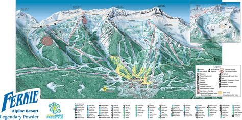 fernie ski resort map