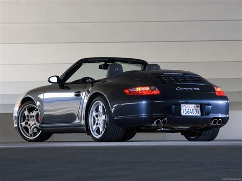 porsche convertible black 2007 black porsche 911 carrera 4s cabriolet wallpapers