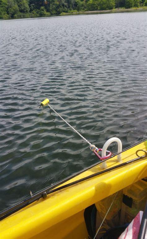 stick boats kayak diy stakeout pole for shallow water fishing wavewalk