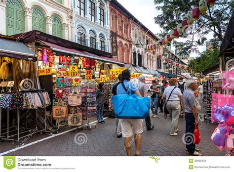 are shops open new year in singapore shopping in singapore chinatown editorial stock photo